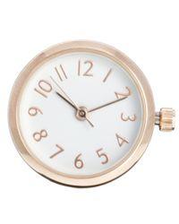 ASOS - Metallic Round Ring Watch - Lyst
