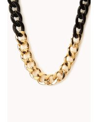 Forever 21 - Metallic Sleek Curb Chain Necklace - Lyst