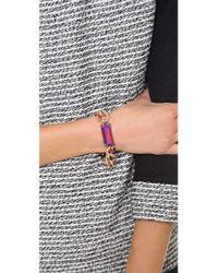 Gemma Redux - Pink Chain Bracelet - Lyst