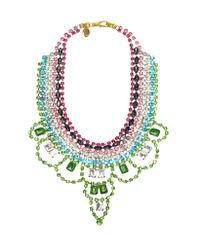 Juicy Couture - Green Multi Rhinestone Drama Necklace - Lyst