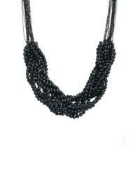 ASOS | Black Just Acces Fay Chain Bead Necklace | Lyst