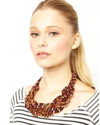 ASOS - Eda Ribbon Box Chain Collar - Lyst