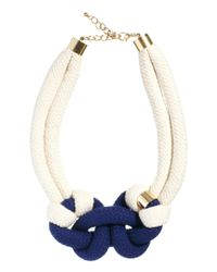 ASOS - Blue Just Acces Smag Rope Necklace - Lyst