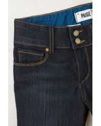 PAIGE | Blue Hidden Hill Petite Jeans | Lyst