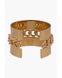 Stella McCartney | Metallic Gold Chain_embellished Cuff | Lyst