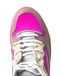 Balenciaga - Pink Multi-Block Leather And Neoprene Trainers - Lyst