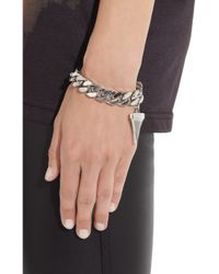 Givenchy - Metallic Shark Tooth Palladiumplated Bracelet - Lyst