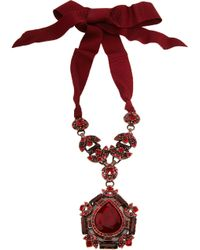 Lanvin | Red Crystal Babylon Pendant Necklace | Lyst
