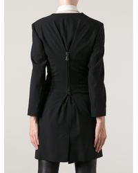 McQ - Black Asymmetric Zipped Jacket - Lyst