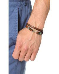 Miansai | Brown Foksol Leather Wrap Bracelet for Men | Lyst
