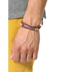 Miansai - Red Casing Rope Wrap Bracelet for Men - Lyst