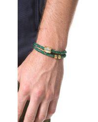 Miansai - Green Casing Rope Wrap Bracelet for Men - Lyst