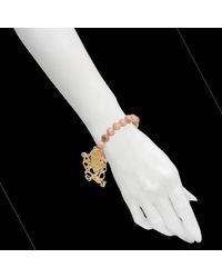 Rita & Zia - Metallic Pink Ganesh Bracelet - Lyst