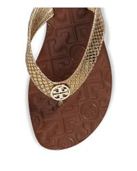 d19d4775d37 Tory Burch Thora Metallic Sandal in Metallic - Lyst