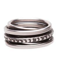 Werkstatt:münchen - Metallic Punch Round Wound Ring - Lyst