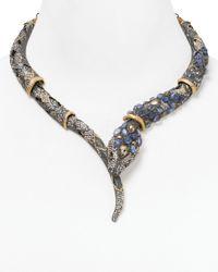 Alexis Bittar | Purple Jardin De Papillon Cabochon Encrusted Snake Necklace 18 | Lyst