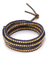 Chan Luu - Blue Five Wrap Leather Bracelet - Lyst