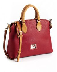 Dooney & Bourke - Red Dillen Ii Leather Crossbody Satchel - Lyst
