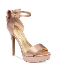 Jessica Simpson | Pink Bowie Platform Dress Sandals | Lyst