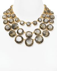 kate spade new york - Metallic Steal The Spotlight Triple Strand Necklace 18 - Lyst