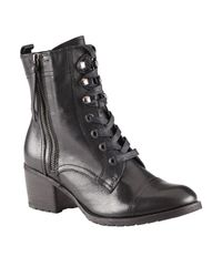 ALDO | Black Holta Block Booties | Lyst