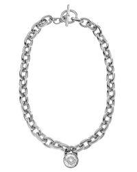 MICHAEL Michael Kors - Metallic Silver Tone Chain Necklace - Lyst
