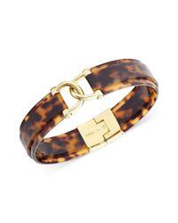 Fossil | Brown Gold Tone Tortoise Dlink Bracelet | Lyst