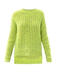 Tibi | Yellow Waffle Knit Sweater | Lyst