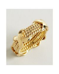 Tiffany & Co. | Metallic Jean Schlumberger Gold Four Row Rope Band Estate Ring | Lyst