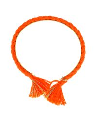 Aurelie Bidermann | Orange Bangle with Cotton Braid | Lyst