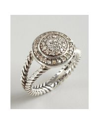David Yurman | Metallic Sterling Silver and Diamond Albion Ring | Lyst