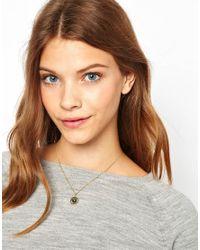 Ashiana - Metallic Mini Clock Charm Necklace - Lyst