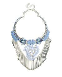 ASOS - Blue Moon Jewel Necklace - Lyst