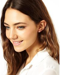 ASOS - Metallic Sterling Silver Triangle Earrings - Lyst