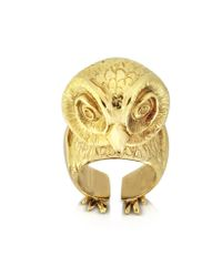Bernard Delettrez - Metallic Bronze Big Owl Ring - Lyst