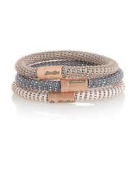 Carolina Bucci | Multicolor Twister Set Of Three 18karat Rose Goldplated and Silk Bracelets | Lyst