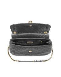 DKNY | Black Quilted Leather Shoulder Bag W/Adjustable Strap | Lyst