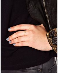 Dogeared - Metallic J Ring - Lyst