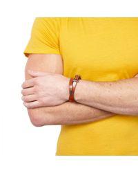Dolce & Gabbana - Brown Leather Wrap Bracelet for Men - Lyst