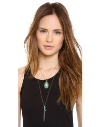 Elizabeth and James - White Northern Star Cabochon Necklace - Lyst