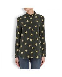 Equipment - Green Reese Star Print Silk Shirt - Lyst