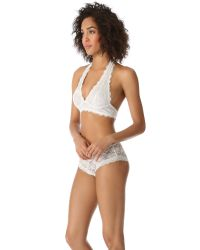 Free People | Blue Galloon Lace Truly Madly Deeply Halter Bra | Lyst