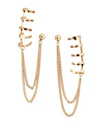 H&M | Metallic Earrings with Ear Cuffs | Lyst