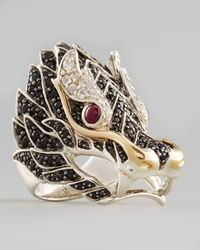 John Hardy | Metallic Pave Naga Dragon Head Ring | Lyst