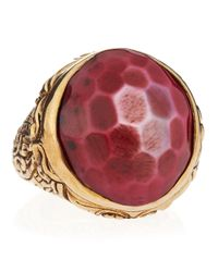 Stephen Dweck | Purple Rock Crystal Motherofpearl Dome Ring Size 7 | Lyst