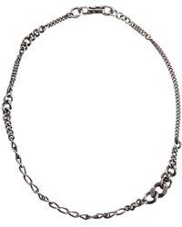 Werkstatt:münchen | Metallic Silver Graduated Curb Chain Necklace for Men | Lyst