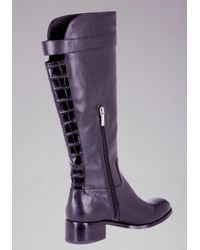 Bebe - Purple Shasta Flat Riding Boots - Lyst