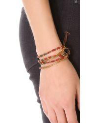Chan Luu - Multicolor Beaded Wrap Bracelet - Lyst