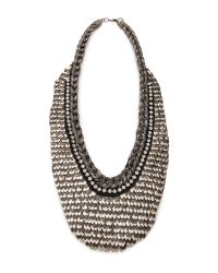 Deepa Gurnani | Metallic Two Tone Armor Necklace | Lyst