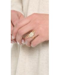 Elizabeth and James - White Northern Star Statement Ring - Lyst
